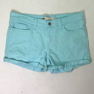 Levi's Baby Blue Cuffed Jean Shorts